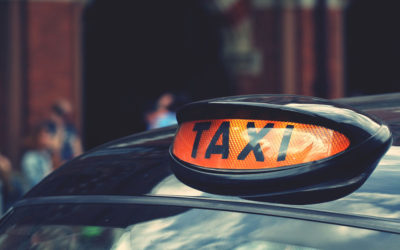 Who is to blame if you are injured in a road traffic accident and you are in a taxi?